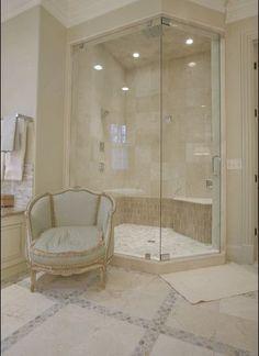 Master bathroom - shower and tile
