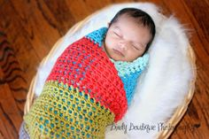 Oh the Cuteness!: Free Crochet Pattern: The Weekend Baby Blanket. A crocheted cotton color-blocked baby blankie that would make a great last-minute gift!