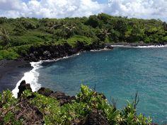 Wai'anapanapa Black Sand Beach in Maui--love this place!