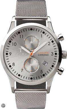Triwa Stirling Lansen Chronograph LCST102 - Horloge - 36 mm - Zilverkleurig