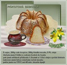 Piškotová bábovka Thing 1, Pancakes, Breakfast, Blog, Facebook, Morning Coffee, Pancake, Blogging, Crepes