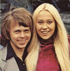 Björn and Agnetha in nineteen hundred seventy. Abba Mania, Sweet Couple, King Queen, The Beatles, Couples, Instagram Posts, Pictures, Queens, Icons