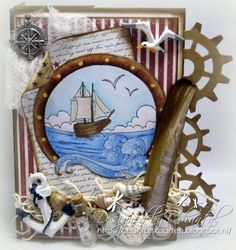 Cards made by Chantal: 3-step Maritime card!