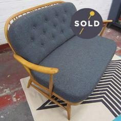 Classic Ercol Windsor 203 two-seater in sought-after blonde finish elm. Perfect for bay windows and flats- a piece of British design history with. Ercol Sofa, Ercol Furniture, 2 Seater Sofa, Armchair, Outdoor Furniture, Lounge Rug, Blue Wool, Mid Century Furniture, Outdoor Chairs