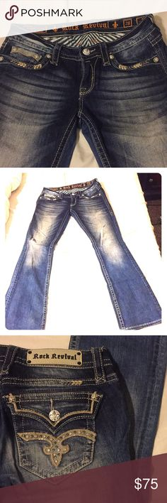 New Rock Revival Jeans Wore once Rock Revival Jeans in excellent condition Rock Revival Jeans Boot Cut