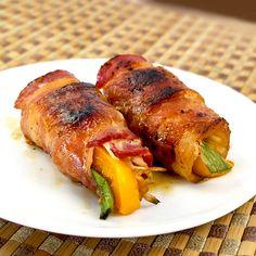 Japanese food - Classic Yakitori - Enoki mushrooms wrapped in bacon - エノキ ベ-コン