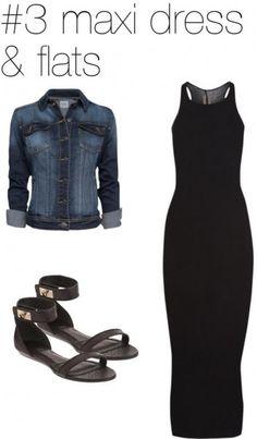 Ways to wear a denim / jean jacket #maxidress