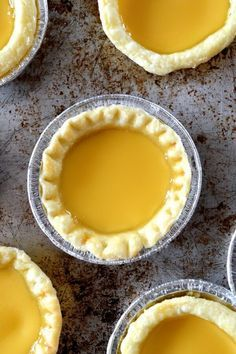 #Hong #Kong #Egg #Tarts (#Dan #tat) . SUCH A GOOD RECIPE. #Flaky #crust, prefecture lightly #sweetened #custard.