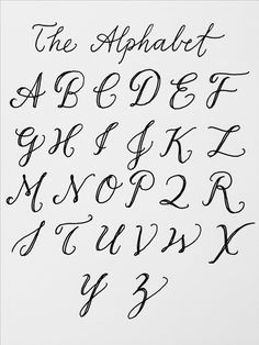 muse: the alphabet! there are an infinite number of ways to write ...