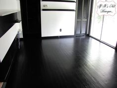 The Trials And Tribulations Of A Painted Floor Black Wood Floors Wooden