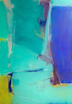 abstract painting: BLUE ORACLE acrylic on canvas -W.Skog