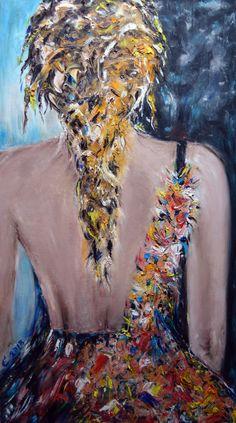 Color Temptation - Emilia Art, Oil on Canvas, 30x70 cm