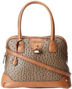Amazon.com: London Fog Lark Satchel Top Handle Bag,Amber Ostrich,One Size: Shoes