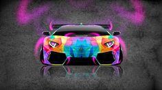 Lamborghini Aventador Neon