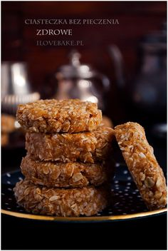 fit ciasteczka Food Design, Cooking Time, Granola, Cereal, Cookies, Breakfast, Diet, Crack Crackers, Morning Coffee