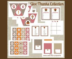 Only 1 more day to grab the Give Thanks Party Printable Thanksgiving Collection at 75% off!