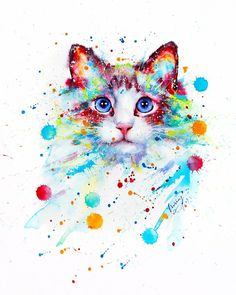 Cat paintig by Liviing