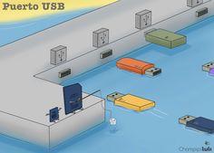 Chompipi Tuti: Puerto USB...