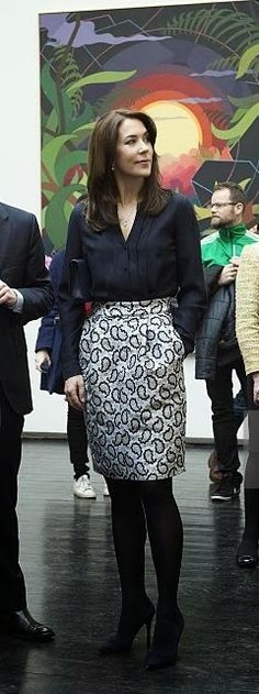 Queens & Princesses - Princess Mary attended the opening of an art exhibition in Copenhagen.