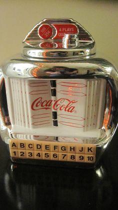 Coca Cola Jukebox Ceramic Cookie Jar 2000 Gibson
