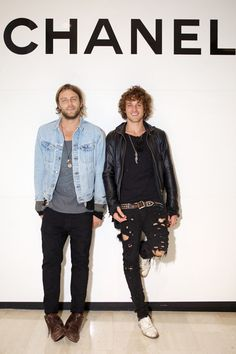 Tyler Atkins and Joel Houston at the Chanel J12 launch