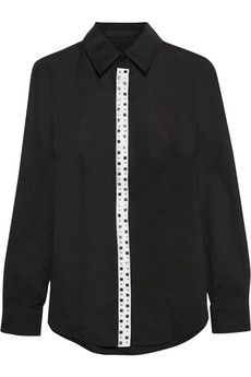€81 from €180 Karl Lagerfeld Valentine embellished cotton shirt IT sizes: 44, 46