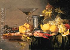 I love these old Dutch and Spanish still life paintings!