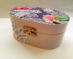 Jewelry box for girls Teens jewelry storage by GlossyPapierRecy
