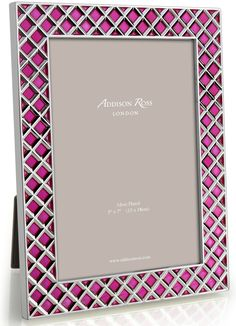 Addison Ross Diamond Frame in Fuschia. Available to purchase at 56 Merrion Square