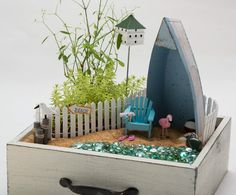 Learn how to create a miniature garden with Amy Kate Gardens ~ Oh So Cynthia