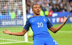 Download imagens 4k, Kylian Mbappe, meta, MA, futebol, Mbappe, jogadores de futebol