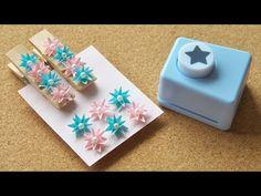 クラフトパンチで作る金平糖みたいな小花の作り方 DIY How to Make Kawaii Flowers With Paper Punch - YouTube Paper Flower Art, Flower Crafts, Paper Flowers, Paper Quilling Tutorial, Paper Flower Tutorial, Paper Crafts Origami, Scrapbook Paper Crafts, Scrapbook Kit, Craft Paper Punches