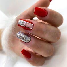 Nail Art Designs Videos, Cute Nail Art Designs, Acrylic Nail Designs, Xmas Nails, Holiday Nails, Christmas Nails, Nail Art Strass, Nail Art Noel, Magic Nails