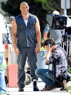 Vin Diesel back on set of Fast & Furious 7 in L.A.