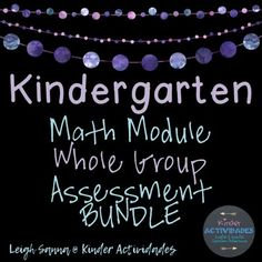 This BUNDLE includes all of my Kindergarten Math Module ALIGNED Whole Group Assessments (Modules 1-6). These assessments align to the skills taught in the Engage NY/Eureka Math Kindergarten Modules and can replace the one-on-one interviews recommended by these modules.
