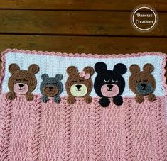 crochet teddy bears This blanket is full of texture and Teddy Bears all snuggled in for the night with sleepy eyes and their paws cuddling the blanket. Bobble Crochet, Crochet Teddy, Baby Afghan Crochet, Baby Afghans, Crochet Blanket Patterns, Knitting Patterns, Baby Sweater Knitting Pattern, Bear Blanket, Hippie Baby