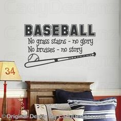 Sports Baseball Wall Decal Boys Room Decor by Studio378Decals