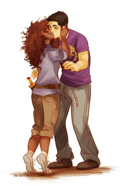 Frank Zhang / Hazel Levesque / Frazel / Heroes of Olympus / art by Viria. I liked that part in the book Solangelo, Percabeth, Percy Jackson Fandom, Percy Jackson Film, Viria Percy Jackson, Percy Jackson Couples, Frank Zhang, Dibujos Percy Jackson, Hazel And Frank