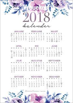 Om jou lewe makliker en meer georganiseerd te maak, het ons vir jou kalenders vir die hele 2018 gemaak! Vakansiedae en skoolvakansies word aangedui. Days And Months, Daily Journal, Afrikaans, Paper Cards, Classroom Activities, Botanical Prints, Birthday Wishes, Helpful Hints, Free Printables