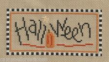 Lizzie Kate Free Patterns Holloween | finished completed cross stitch LIZZIE KATE halloween pumpkin PREORDER