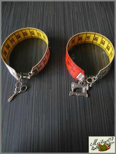 """bracelets façon """"couture"""" par Maïlys07."""