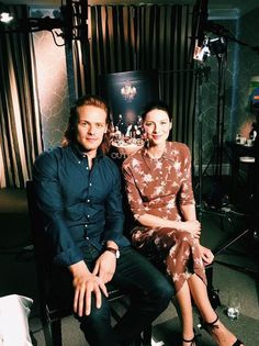 "myaccueill: ""lucianaduchovny: Sam Heughan & Caitriona Balfe"