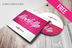 Free Case and Disk Mock-up in PSD