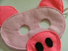 Pig felt mask. I am going to be piggie for book character day.