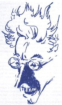 """My favorite not-actually-mad """"mad doctor"""":  Doctor Prunesquallor of Gormenghast, by Mervyn Peake"""