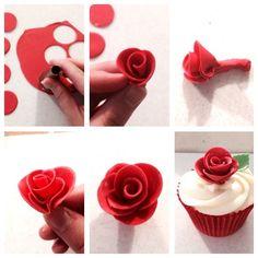Step by Step Fondant Sugarcraft rose tutorial.