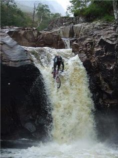 What!!!! This takes MTN Biking to a whole new level!! - Biking Rivers                                                                                                                                                     Mais