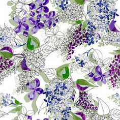 Unfinished Nature - Syringia by Ralitsa Raleva Seamless Repeat  Exclusive Pattern