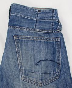 G Star Raw Core Custom Jeans Distressed Low Rise Button Fly 100% Cotton 29 X 32 #GStar #BootCut