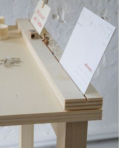 Nice way to stand up jewelry cards, signs, art or paper goods on a craft fair table